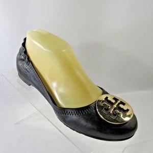 TORY BURCH Size 7M Black Flats Shoes For Women